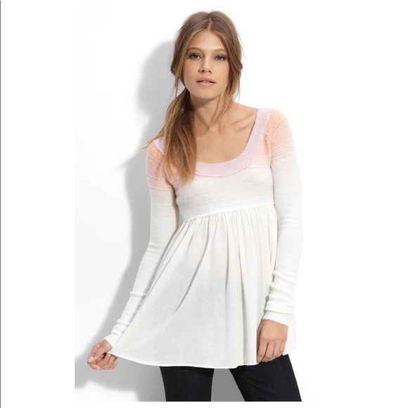 NWT-Free People Babydoll Ombré Sweater/Top